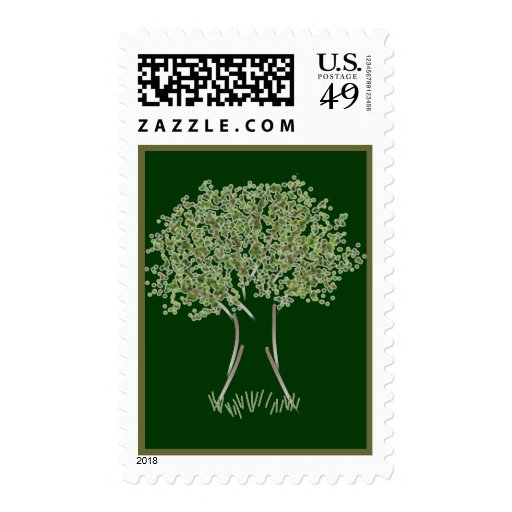 A Nice Little Tree Postage Stamp