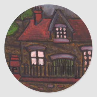 A nice old house classic round sticker