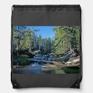A Nice View Of The Paulina River Drawstring Bag