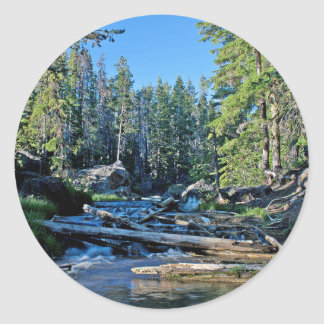 A Nice View Of The Paulina River Classic Round Sticker