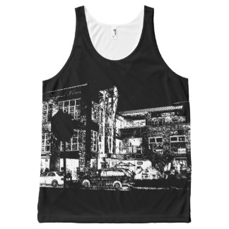 A Night for Cafe and Billiards All-Over-Print Tank Top