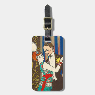 A Night in Decadent Paris Art Deco Luggage Tag