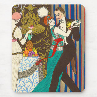 A Night in Decadent Paris Art Deco Mouse Pad