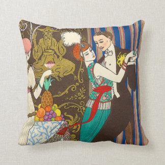 A Night in Decadent Paris Art Deco Pillow