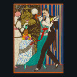 """A Night in Decadent Paris Art Deco Poster<br><div class=""""desc"""">A Night in Decadent Paris poster. Art Deco print from 1914. French artist Georges Barbier was one of the great illustrators working in Paris France in the 1920s. He frequently depicted scenes of Parisian nightlife. A night in decadent Paris features a French couple dancing at a party. The woman wears...</div>"""