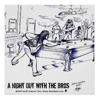 A Night Out With The Bros Poster