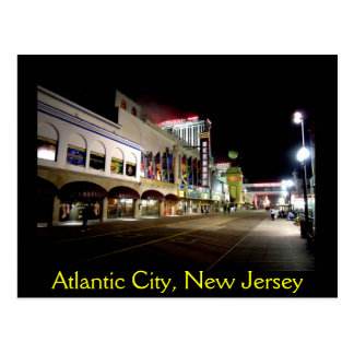 A Night View of Atlantic City Postcard