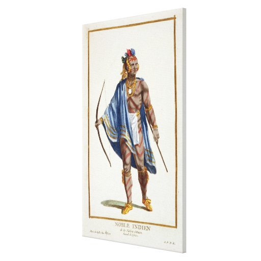 A Noble Indian from the Ottawa Nation, 1780 (colou Canvas Prints