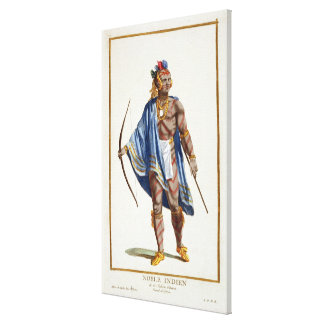 A Noble Indian from the Ottawa Nation, 1780 (colou Canvas Print