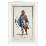A Noble Indian from the Ottawa Nation, 1780 (colou Greeting Card