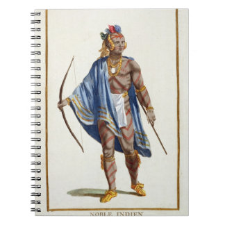 A Noble Indian from the Ottawa Nation, 1780 (colou Notebook