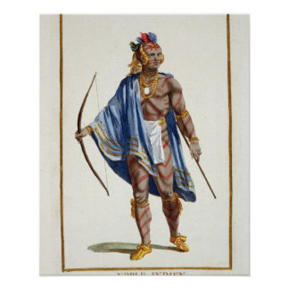 A Noble Indian from the Ottawa Nation, 1780 (colou Poster