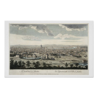 A North View of London, plate 3 from 'Views of Lon Poster