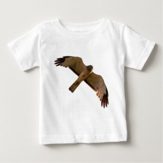A Northern Harrier soars overhead Baby T-Shirt