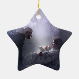 A nosotros, la natividad adorno de cerámica en forma de estrella
