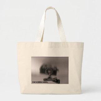 A not so hidden camera jumbo tote bag
