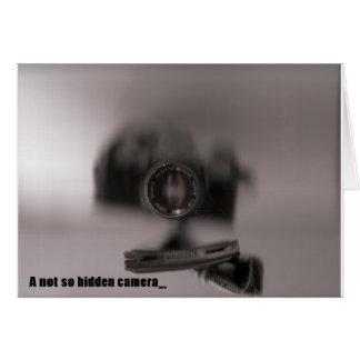 A not so hidden camera card