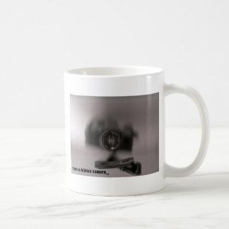 A not so hidden camera classic white coffee mug
