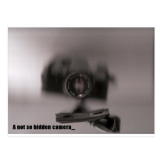 A not so hidden camera postcard