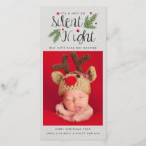 A Not So Silent Night | Christmas Photo Card