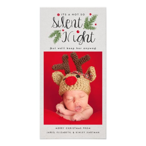 A Not So Silent Night Christmas Photo Card
