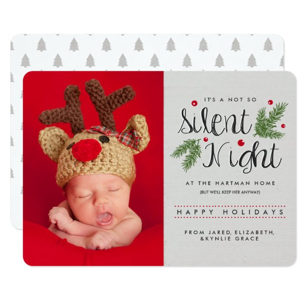 A Not So Silent Night Photo Holiday Card