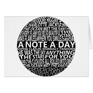 A Note A Day Collage Card