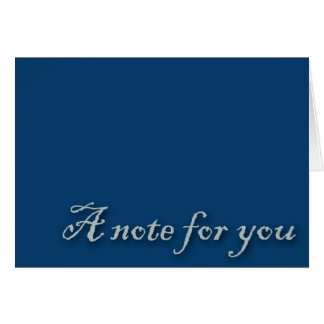 A Note For You Blue Card