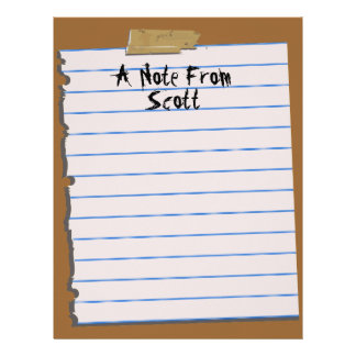 A Note From... Letterhead Notepaper