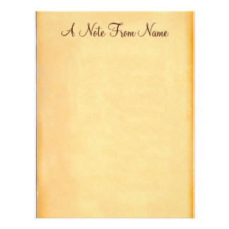 A Note From... Old Paper Letterhead Stationery