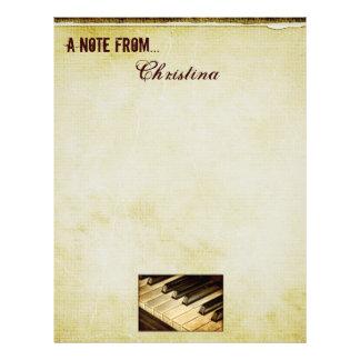 A Note From...Piano Keys Letterhead