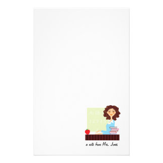 A Note From Teacher Personalized Stationery
