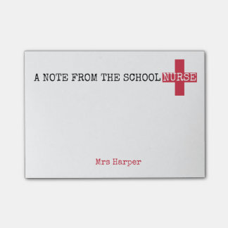 A Note From the School Nurse Red First Aid Cross
