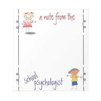 A Note from the School Psychologist (notepad)