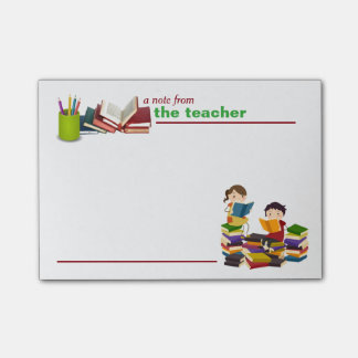 A Note from the Teacher Post-it Notes