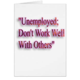 A Note On Employment Card