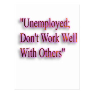 A Note On Employment Postcard