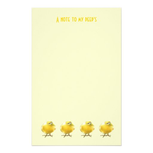A note to my peep's stationery