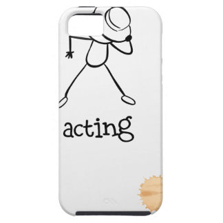 A notebook with a sketch of a person acting at the iPhone SE/5/5s case