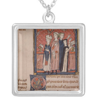 A nun taking her vows and mass square pendant necklace