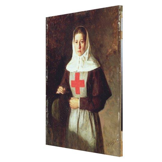 A Nurse, 1886 Canvas Print