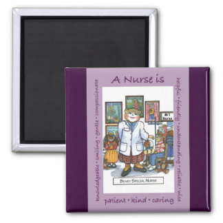 A Nurse Is 2 Inch Square Magnet