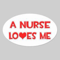 A Nurse Loves Me Sticker