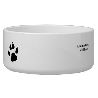 A Nurse Owns My Heart Pet Food Bowl