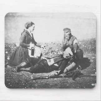A Nurse Tending a Wounded Man Mouse Pad