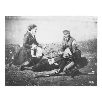 A Nurse Tending a Wounded Man Postcard