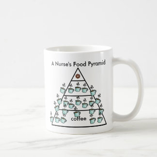 A Nurse's Coffee Food Pyramid - Coffee Mug