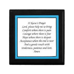 A Nurse's Prayer Keepsake Box