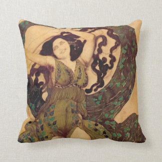 A Nymph Cost - A Nymph, for Ballet Russes by Bakst Throw Pillow