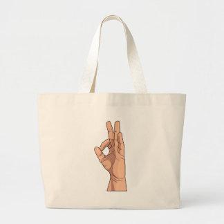 A OK ~ Hand Sign and Gestures a-ok Bag